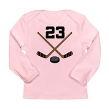 Hockey Player Number 23 Long Sleeve Infant T-Shirt