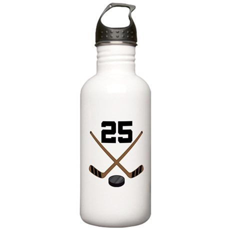 Hockey Player Number 25 Stainless Water Bottle 1.0