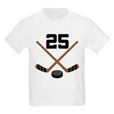 Hockey Player Number 25 T-Shirt
