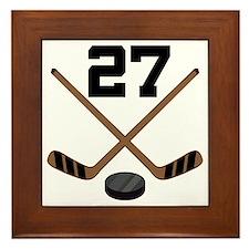 Hockey Player Number 27 Framed Tile