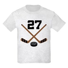 Hockey Player Number 27 T-Shirt