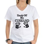 Hands Off My Cusband Women's V-Neck T-Shirt