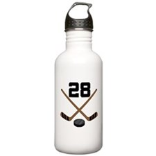 Hockey Player Number 28 Water Bottle