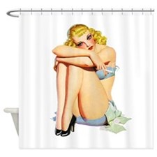 Pin-Up Girl Shower Curtain