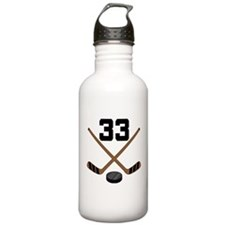 Hockey Player Number 33 Water Bottle