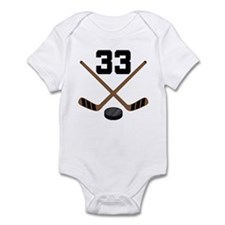 Hockey Player Number 33 Infant Bodysuit