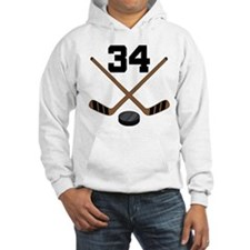 Hockey Player Number 34 Jumper Hoody