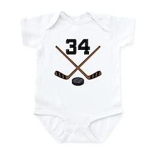 Hockey Player Number 34 Onesie