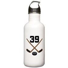 Hockey Player Number 39 Water Bottle