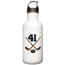 Hockey Player Number 41 Water Bottle