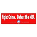 Fight Crime. Defeat the NRA. Sticker (Bumper)