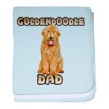 Goldendoodle Dad baby blanket