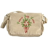 Peace Love Joy Messenger Bag
