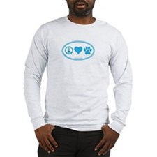 Peace Love Paws Long Sleeve T-Shirt