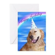 Golden Retriever Birthday Cards Greeting Cards (Pa