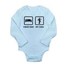 Unicycle Long Sleeve Infant Bodysuit
