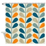 Retro Pattern Shower Curtain