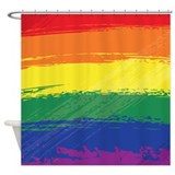Grunge Rainbow Shower Curtain