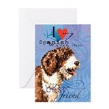 Spanish Water Dog Greeting Card
