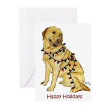 Yellow Lab Labrador Retriever Christmas Cards