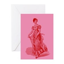 Regency Lady In Gown Greeting Cards (Pk of 10)