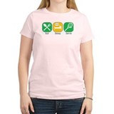 Eat Sleep Serve Women's Pink T-Shirt