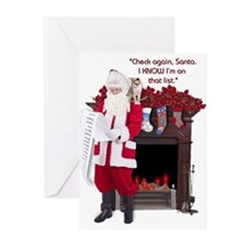 """Check again, Santa"" Greeting Cards (Pk of 10)"