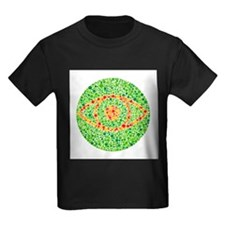Colour blindness test - Kid's Dark T-Shirt