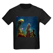 Gas pillars in the Eagle Nebula - Kid's Dark T-Shi