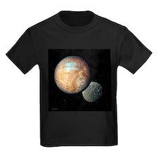 Pluto and Charon - Kid's Dark T-Shirt
