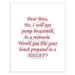 Dear boss breastfeeder Small Poster