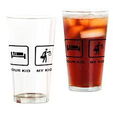 Office Worker Drinking Glass