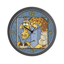 Knitting Giraffe Wall Clock