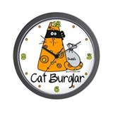 Cat Burglar Wall Clock