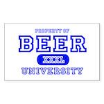 Beer University Bier Rectangle Sticker