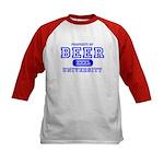Beer University Bier Kids Baseball Jersey