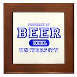 Beer University Bier Framed Tile
