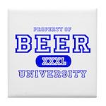Beer University Bier Tile Coaster