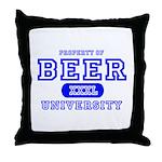 Beer University Bier Throw Pillow
