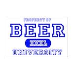 Beer University Bier Mini Poster Print