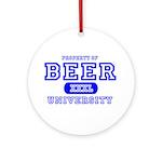 Beer University Bier Ornament (Round)