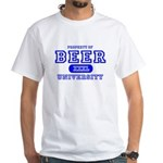 Beer University Bier White T-Shirt