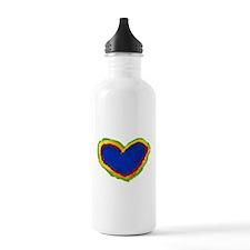 FingerPaint Heart Water Bottle