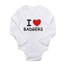 I love badgers Body Suit