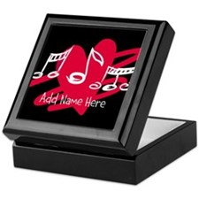 Personalized Musical notes love heart Keepsake Box