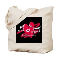 Personalized Musical notes love heart Tote Bag