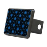 Blue Stars Pattern Rectangular Hitch Cover