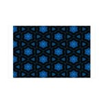 Blue Stars Pattern 35x21 Wall Decal