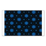 Blue Stars Pattern Sticker (Rectangle 50 pk)