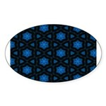 Blue Stars Pattern Sticker (Oval 50 pk)